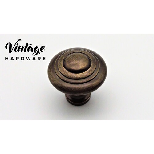 CAST BRASS, ANTIQUE BRASS, KNOB