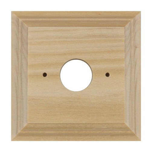 PINE WOODEN SWITCH BLOCK, SQUARE, CLASSIC DESIGN