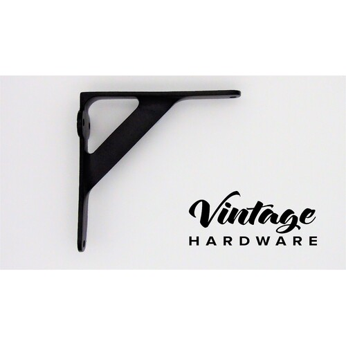 MATT BLACK IRON, SHELF BRACKET