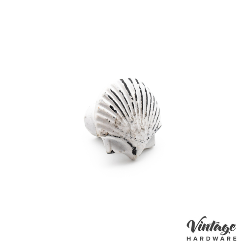 DISTRESSED WHITE, IRON, SEA SHELL, KNOB